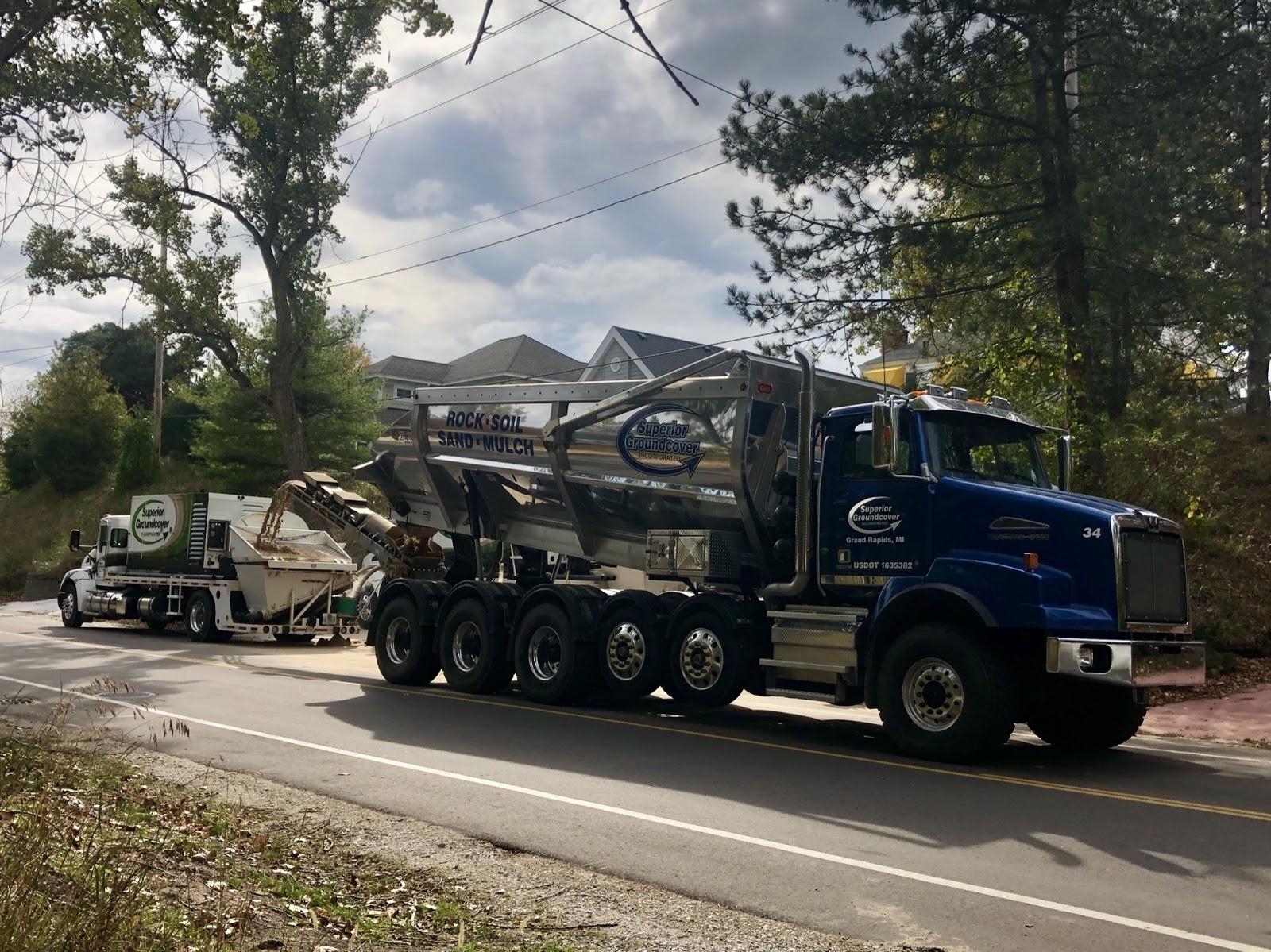 Superior Groundcover sand blower truck