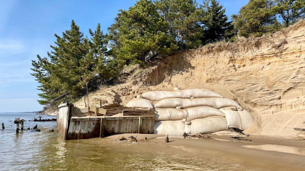 erosion control on a beach