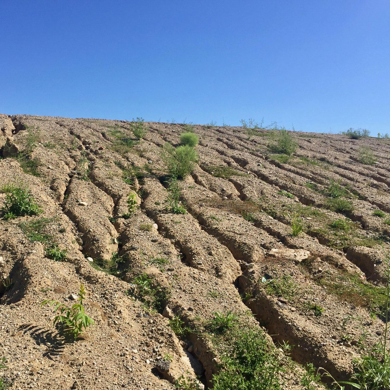 eroded slope