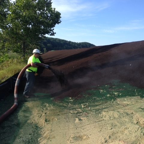 compost spreading